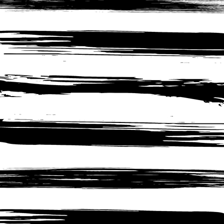 Distressed black and white hand drawn grunge lines background  illustration. Grunge stripes texture Imagens