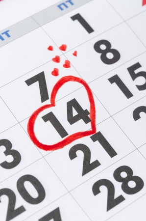 weekday: Valentine s Day on the calendar