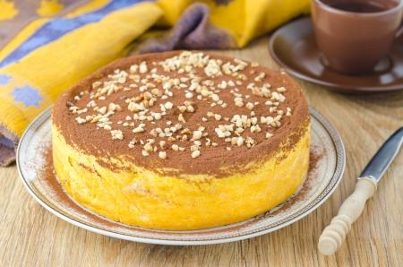pumpkin cheesecake on a plate Stock Photo - 17367942