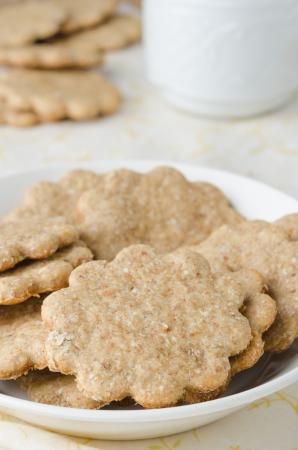 galletas de jengibre: galletas de jengibre en un recipiente blanco