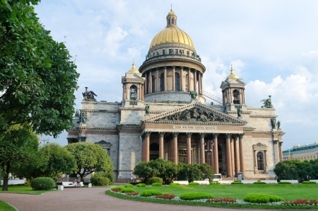 view of St  Isaac s Cathedral in St  Petersburg horizontal photo