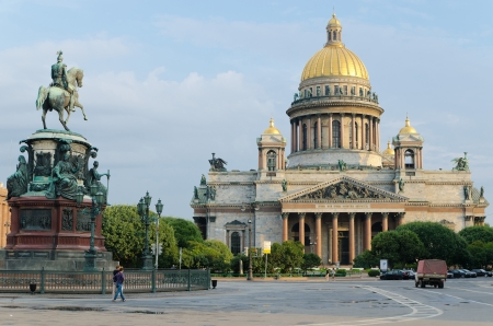 st petersburg: view of St  Isaac s Cathedral in St  Petersburg