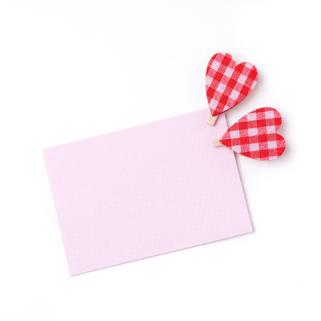 valentines day mother s: pink card for congratulation with hearts, isolated on white