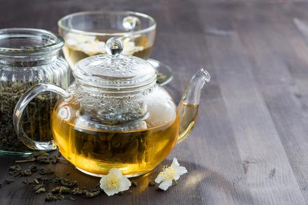 horizontal  green: green tea with jasmin, horizontal