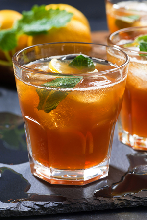 cool mint: cool mint iced tea, vertical