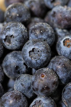 Fresh juicy blueberries, vertical