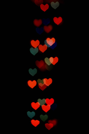s day: Abstract festive heart bokeh background for Valentine 's Day Stock Photo