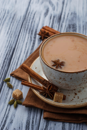 masala: Indian masala tea with spices. Selective focus Stock Photo