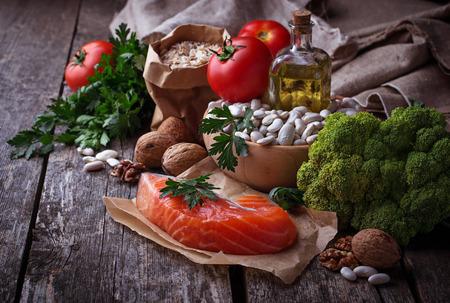 Concept van gezond voedsel voor het hart. selectieve aandacht Stockfoto