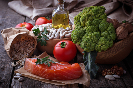 good cholesterol: Concept of healthy food for heart. Selective focus