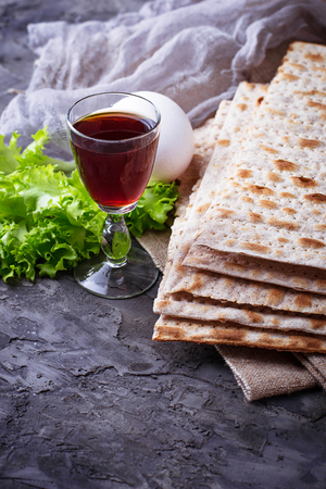 Concept de célébration juive traditionnelle Seder de la Pâque. Mise au point sélective