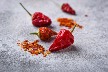 Red chili peppers. Selective focus