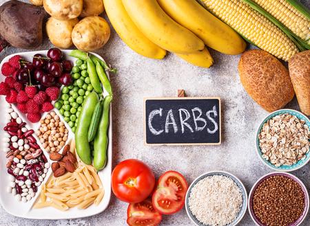 Productos saludables fuentes de carbohidratos.