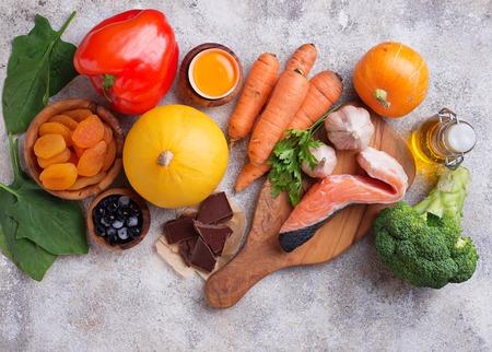 Gezonde voeding goed voor het gezichtsvermogen Stockfoto