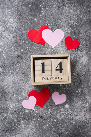 Valentines Day background with  hearts Banco de Imagens