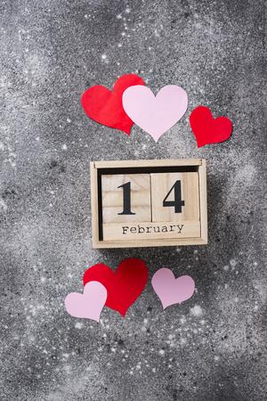 Valentinstag Hintergrund mit Herzen Standard-Bild