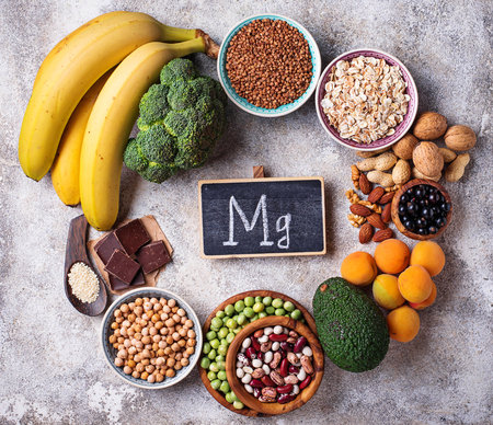 Assortimento di alimenti contenenti magnesio