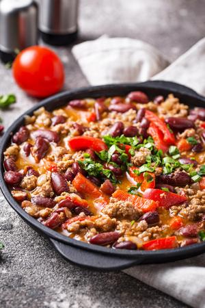 Traditional Mexican dish chili con carne