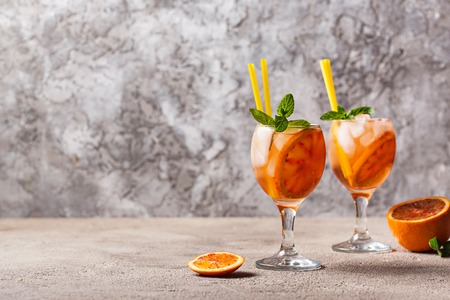 Aperol spritz, Italian cocktail with orange Reklamní fotografie