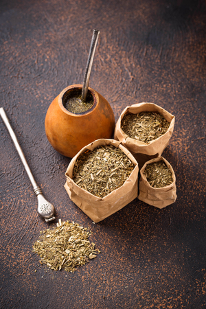 Traditional Argentina yerba mate tea 免版税图像