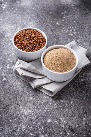 Gluten free buckwheat flour and grain