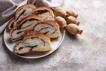 Sweet bread with poppy seeds Zdjęcie Seryjne