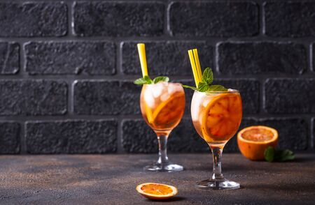Italian cocktail with orange