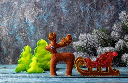 Christmas fir tree toy made of felt