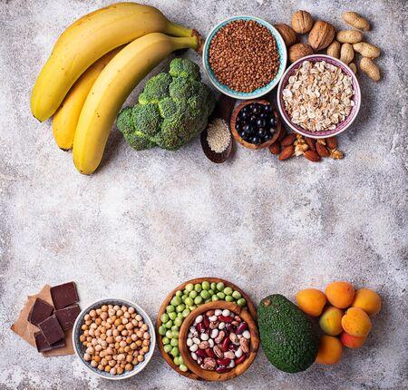 Assortment of food containing magnesium Stock fotó