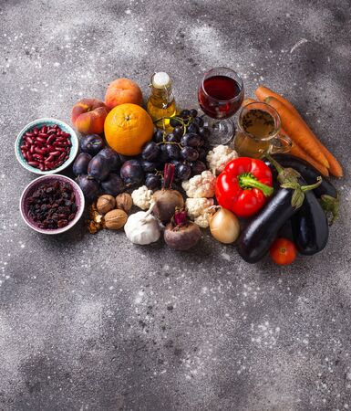 Antioxidants in products. Clean eating and food for healthy life