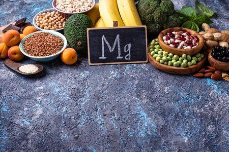 Assortment of food containing magnesium Reklamní fotografie