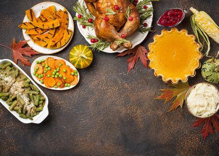 Thanksgiving Day traditional festive dinner Stock Photo