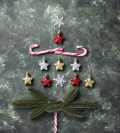 Creative Christmas tree made by stars