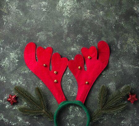 Christmas headhoop with deer horns