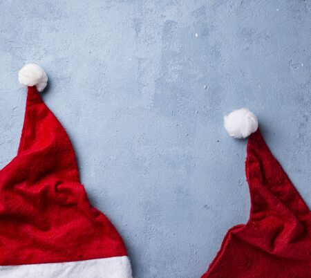 Christmas background with Santa hat