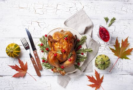 Baked turkey or chicken for holiday 写真素材