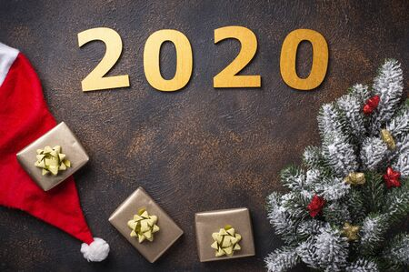 Christmas New Year 2020 background