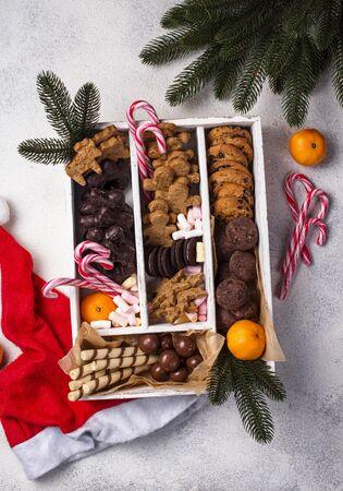 Set of various Christmas cookies 写真素材