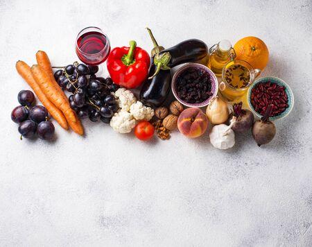 Antioxidants in products. Clean eating Zdjęcie Seryjne