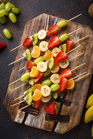 Fruit skewers, healthy summer snack for party