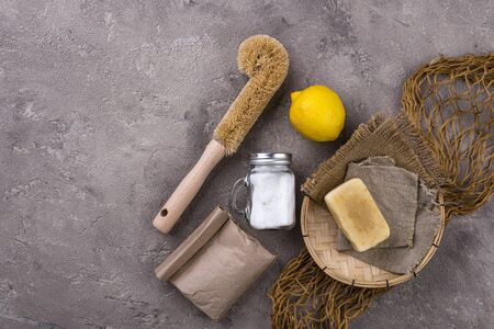 Zero waste natural accessories for cleaning. Eco friendly living concept Zdjęcie Seryjne