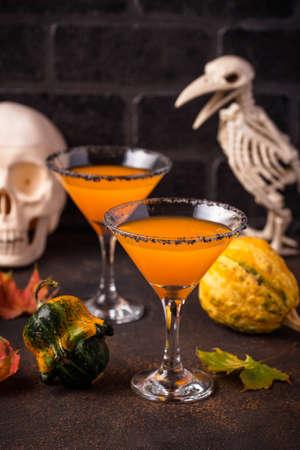 Halloweens drink pumpkin martini cocktail