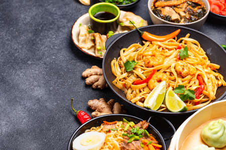 Asian food. Chinese, Japanese and Thai cuisine 写真素材