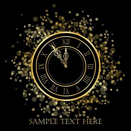 midnight hour: New Year Clock