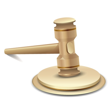 ruling: Vector illustration of gavel Illustration