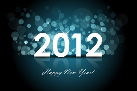 froze: 2012 - New year background