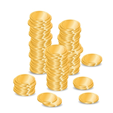 coins stack: Vector coins