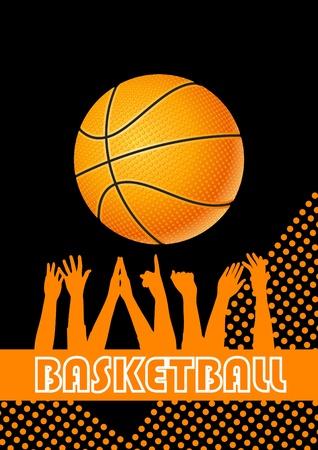 international basketball: Vector basketball background