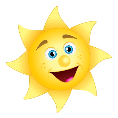 illustration of happy sun Stock Vector - 11996660