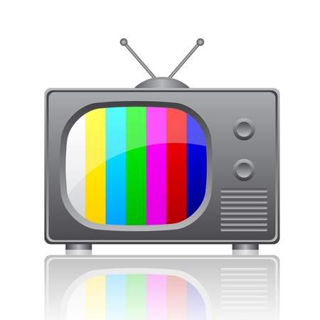 Vector illustration of television Vector